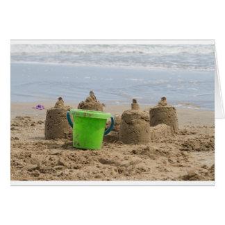 Sandcastles auf dem Strand Karte