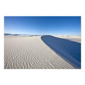 Sanddünen am Weiß versandet nationales Monument he Photodrucke