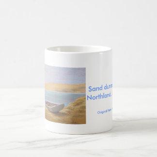 Sanddünen bei Opononi, Northland, Neuseeland Kaffeetasse