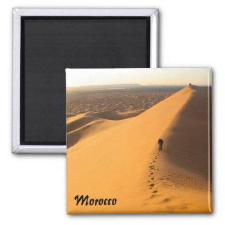 Sanddünen in Marokko-Magneten Quadratischer Magnet