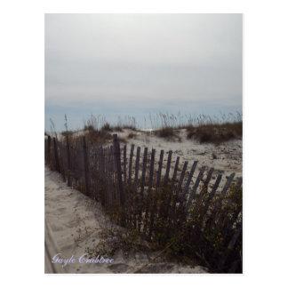 Sanddünen und Strand auf der Golf-Küste, Alabama Postkarte