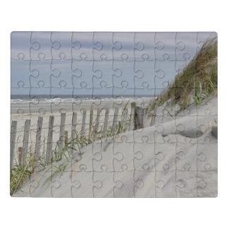 Sanddünen und Strand-Zaun Puzzle
