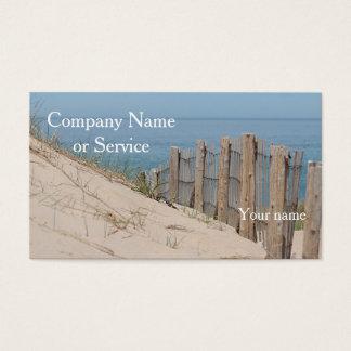 Sanddünen und Strandzaun Visitenkarte