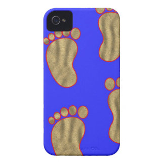 SandfootprintsonBlue iPhone 4 Case-Mate Hülle
