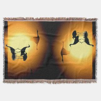 Sandhill Kran-Vogel-Tier-Tier-Silhouetten Decke