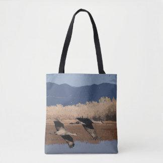Sandhill Kran-Vogel-Tier-Tier-Taschen-Tasche Tasche