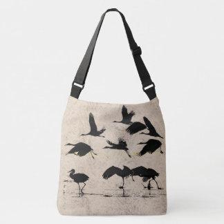 Sandhill Kran-Vogel-Tier-Tier-Taschen-Tasche Tragetaschen Mit Langen Trägern