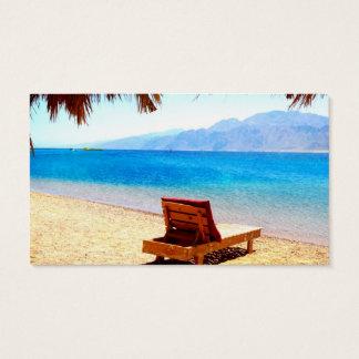 sandiges Bild des blauen Wassers der Strandnatur Visitenkarte