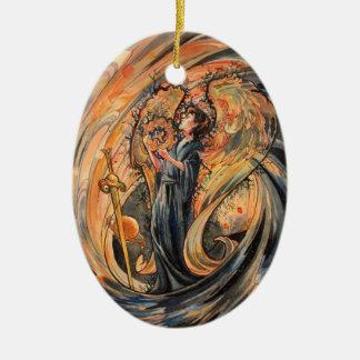 Sandolphon Ovales Keramik Ornament
