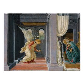Sandro Botticelli - die Ankündigung Fotodruck