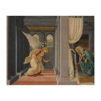 Sandro Botticelli - die Ankündigung Holzleinwand