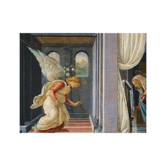 Sandro Botticelli - die Ankündigung Leinwanddruck