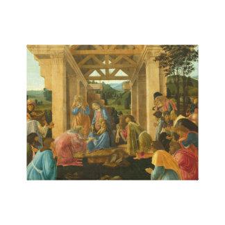 Sandro Botticelli - die Verehrung der Weisen Leinwanddruck