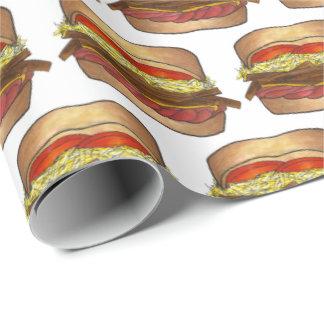 Sandwich-Kohlsalat Pittsburghs Pennsylvania brät Geschenkpapier