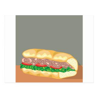 Sandwich-Vektor Postkarte