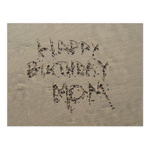 Sandwriting alles- Gute zum Geburtstagmamma Postkarte
