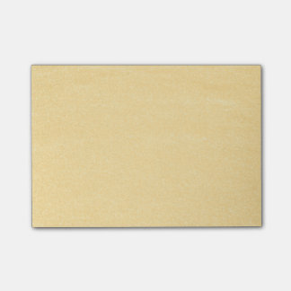 Sandy-Gold Post-it Klebezettel
