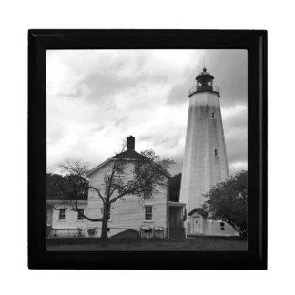 Sandy-Haken-Leuchtturm Schmuckschachtel