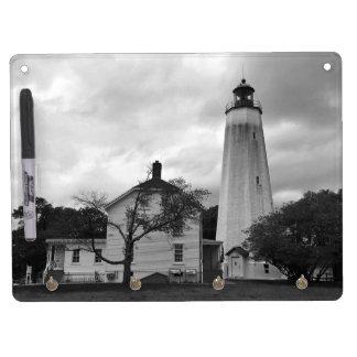 Sandy-Haken-Leuchtturm Trockenlöschtafel Mit Schlüsselanhängern