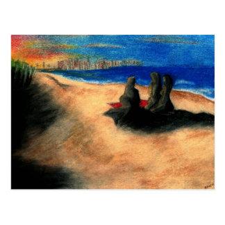 Sandy-Haken-Sonnenuntergang Postkarte