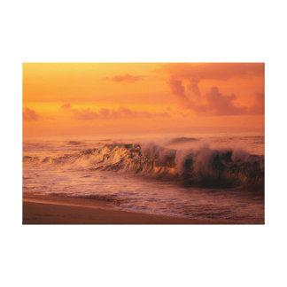 Sandy-Strand Shorebreak Leinwanddruck