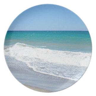 Sandy-Strand und Mittelmeer Melaminteller