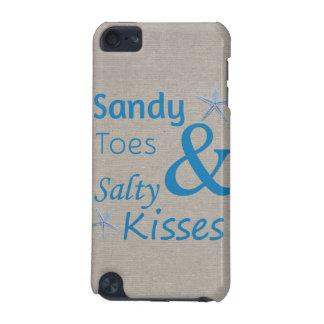 Sandy-Zehen und salziges Kuss-Strand-Leben-Zitat iPod Touch 5G Hülle