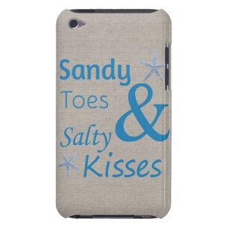 Sandy-Zehen und salziges Kuss-Strand-Leben-Zitat iPod Touch Hülle