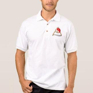 Sänger-Kampfkunst-Hochschulweiß Polo Shirt