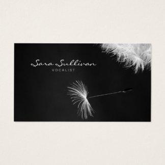 Sänger-Visitenkarte-Löwenzahn-Nahaufnahme Visitenkarte