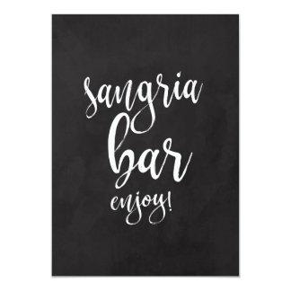 Sangria-Bar-erschwingliches Karte