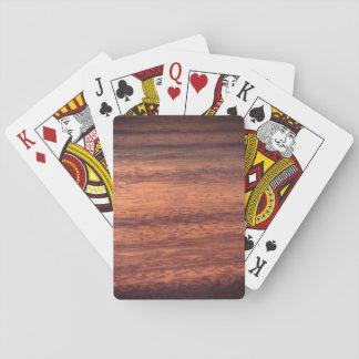 Sangria-Holz-Effekt Spielkarten