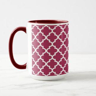 Sangria-marokkanisches Fliesen-Gitter-Muster Tasse