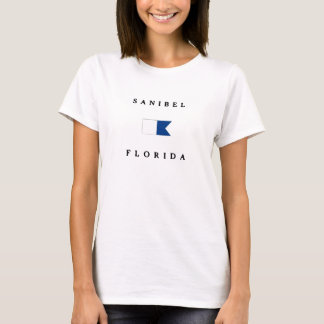 Sanibel Florida Alphatauchen-Flagge T-Shirt
