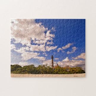 Sanibel Insel, Florida - Leuchtturm-Puzzlespiel Puzzle