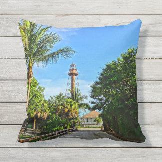 Sanibel Insel-Leuchtturm-Florida-Golf-Küste Kissen
