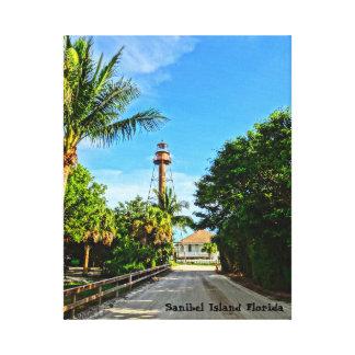 Sanibel Insel-Leuchtturm-Florida-Golf-Küste Leinwanddruck