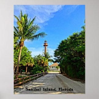 Sanibel Insel-Leuchtturm-Florida-Golf-Küste Poster