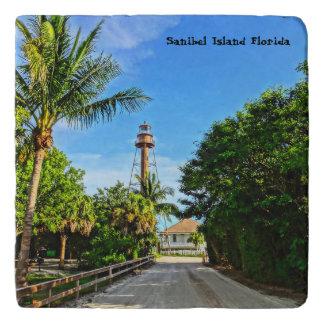 Sanibel Insel-Leuchtturm-Florida-Golf-Küste Töpfeuntersetzer