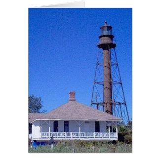 Sanibel Insel-Leuchtturm Florida Karte