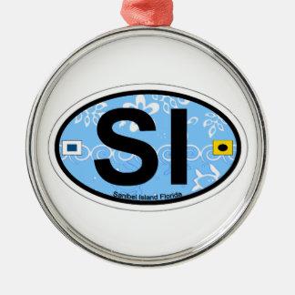 Sanibel Insel Silbernes Ornament