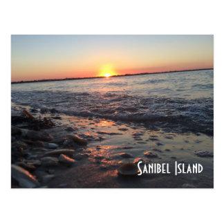 Sanibel Insel-Sonnenuntergangpostkarte Postkarte