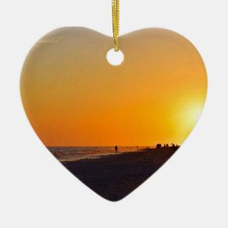 Sanibel Sonnenuntergang-Herz-Verzierung Keramik Ornament