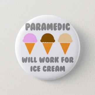Sanitäter… arbeitet für Eiscreme Runder Button 5,1 Cm