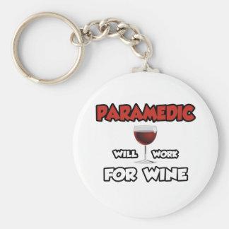 Sanitäter… arbeitet für Wein Schlüsselanhänger
