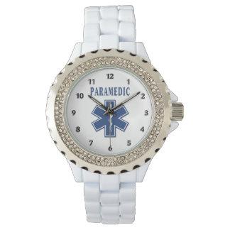 Sanitäter-blauer Stern des Lebens Armbanduhr