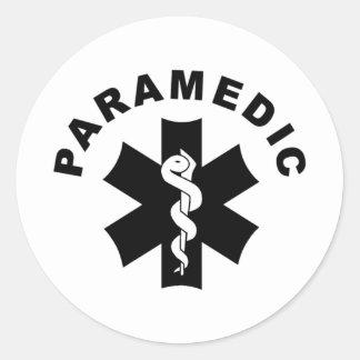 Sanitäter EMS-Rettungs-Logo Runder Aufkleber