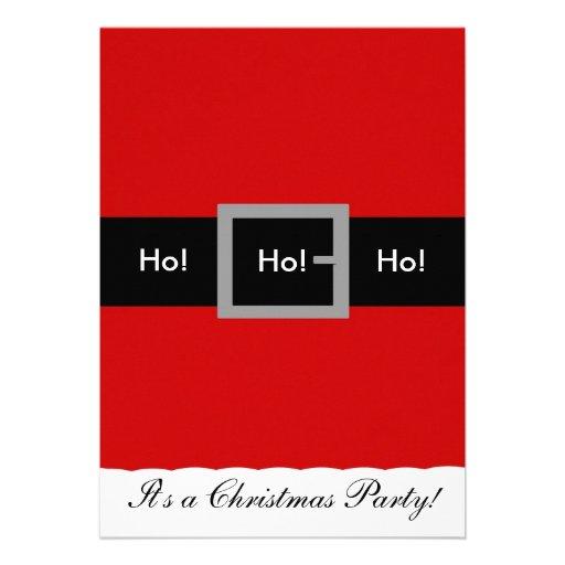 Sankt-Anzugs-Weihnachtseinladung, Ho! , Ho! , Ho! Personalisierte Ankündigungskarten