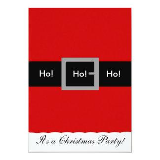 Sankt-Anzugs-Weihnachtseinladung, Ho! , Ho! , Ho! 12,7 X 17,8 Cm Einladungskarte