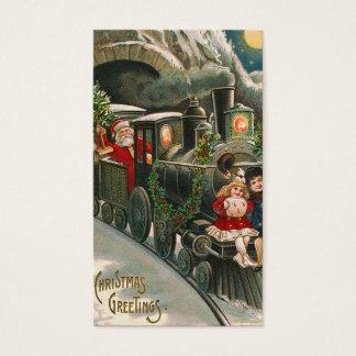 """""""Sankt auf einem Zug"""" Vintager Geschenk-Umbau Visitenkarte"""